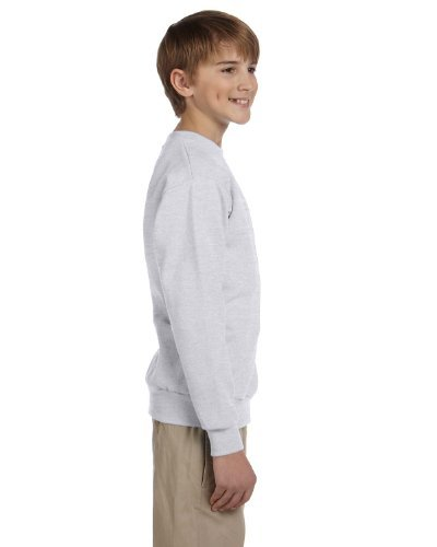 Hanes Boys Youth ComfortBlend EcoSmart Crewneck Sweatshirt(P360)-Ash-S
