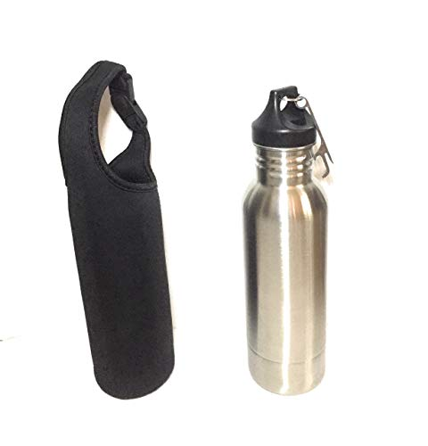 LLB Bottle Container - Stainless Steel 12 oz Insulator with Opener- Includes a Protective Bottle Sleeve by LLB