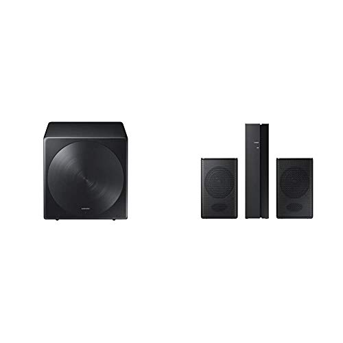 Samsung Sound+ SWA-W700 Wireless Subwoofer & SWA-8500S 2.0 Speaker System Wall Mountable Black Model (SWA-8500S/ZA)