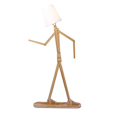 Creative Personality Solid Wood Floor Lamp Foldable Children's Room Living Room Bedroom Hotel Standard Light LED (Color : Wood, Size : 78160cm)