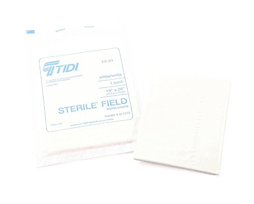 TIDI Products 917270 Patient Drape Sheets, Non-Fenestrated, 18'' x 26'', White (Pack of 300) by Tidi (Image #1)