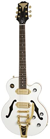 Epiphone WILDKAT Royale Semi-Hollowbody Electric Guitar with Bigsby Tremelo, Pearl White (Epiphone Electric Guitar Gold)