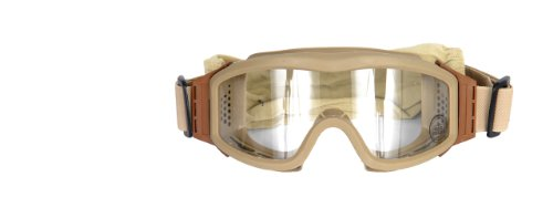 Lancer Tactical Full Seal Airsoft Safety Goggles - Clear Lens (Tan)