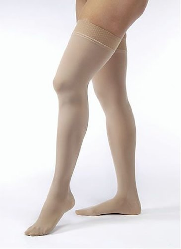 Price comparison product image Jobst Opaque Thigh Highs 20-30mmHg (Black-Small-Open Toe)