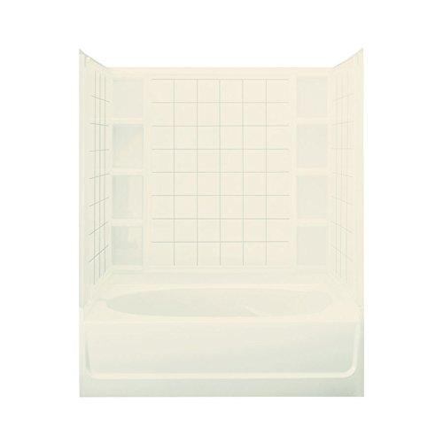 STERLING 71110128-96 Ensemble AFD Bath Tub and Shower Kit, 60-Inch x 42-Inch x 74.24-Inch, - Afd Bathtub