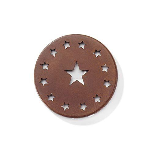 Bulk Buy: Darice DIY Crafts Rustic Metal Star Cap 3.25 inches (6-Pack) -