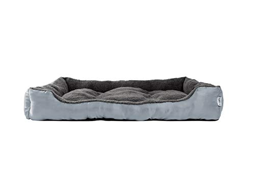 Love's cabin Large Dog Bed, XXL Rectangle Grey Pet Bed for Small Medium Large Dogs & Cats Pet Bedding - Ultimate Lounge Cushion, Water-Resistant Bottom, Washable Super Soft & Durable Pet Supplies