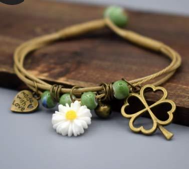 LOSOUL Womens Flower Woven Bracelet Women Girls Bracelets Stretch Bangles Bohemian Style -