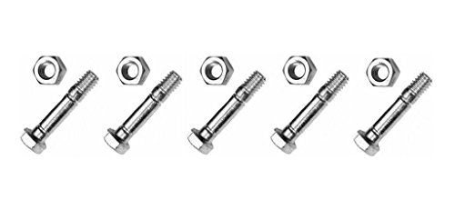 (5) SHEAR PINS & BOLTS fits Cub Cadet 1130TE 522WE 522E 524 724E 826 Snowblowers by The ROP Shop