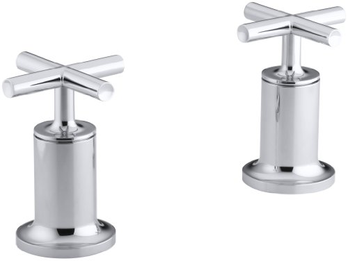 KOHLER K-T14429-3-CP Purist Bath or Deck Wall-mount High-Flow Bath Valve Trim, Polished Chrome Cp Wall Mount Tub Faucet