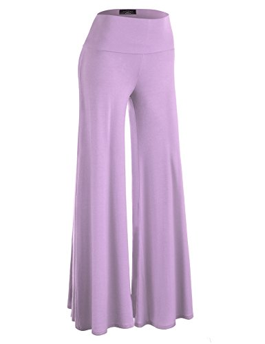Made By Johnny WB750 Womens Chic Palazzo Lounge Pants XXL Lavender