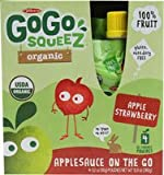Materne GoGo Squeeze Organic Applesauce On The Go Apple Strawberry -- 4 Pouches