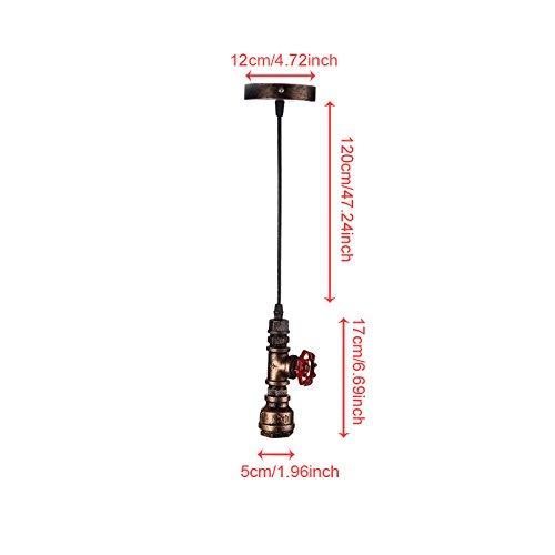 Hahaemall Rohr Retro Vintage Deckenlampen Pendelleuchte H/ängeleuchte Lampe Leuchte Metall
