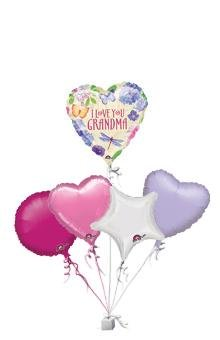 I Love You Grandma Bunch Of 5 Birthday Balloon Gift Amazoncouk