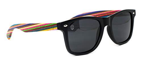 Óculos De Sol De Acetato Com Madeira Maranzano Rainbow, MafiawooD