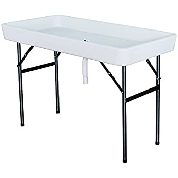 giantex 4 foot party ice folding table plastic with matching skirt white