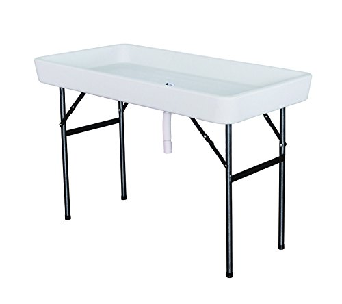 giantex 4 foot party ice folding table plastic with matching skirt white tables patio and. Black Bedroom Furniture Sets. Home Design Ideas