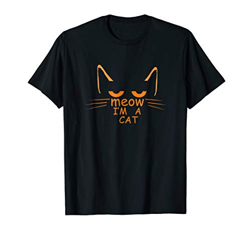 Funny Halloween Cat T-shirt MEH Teen Saying Costume Shirt -