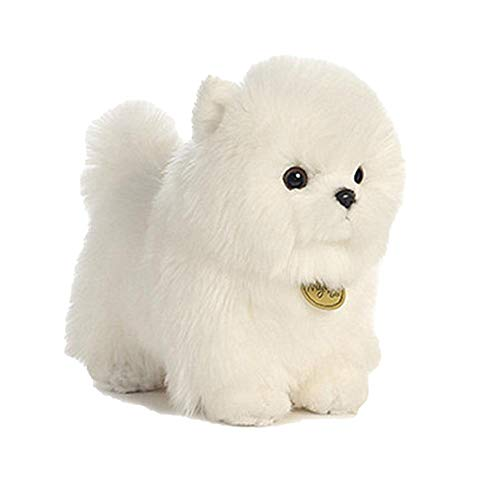 (Toys Dog Breed With A Long Silky White Coat Long Plush Pomeranian Bichon Frise Poodle Dogs Funny Doll For Children Birthday Gift)