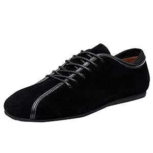 JJLIKER Zapatos de Vestir para Hombre de Piel de Ante Urbano con ...