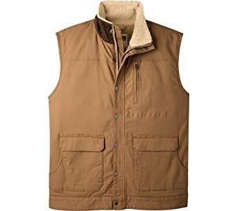 Mountain Khakis Men's Ranch Shearling Vest, Large, Tobacco