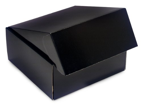 Decorative Shipping Boxes - Black Gourmet Shipping Boxes 9x9x4