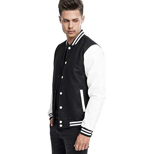 Nero Oldschool Urban Classics bianco Giacca Uomo Jacket Bekleidung College HHU0xaq