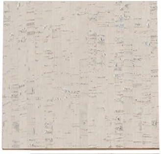 "1/4"" (6mm) Forna Glue Down Cork Tiles - Bleached Birch Soundproof Flooring 6""x 6"" Sample"