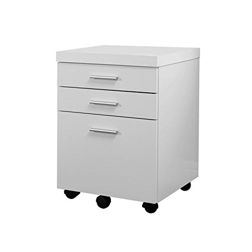 NEW filling cabinet WHITE HOLLOW CORE 3 DRAWER FILE CABINET ON CASTERS