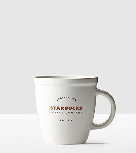 Mug White Classic (Starbucks Classic White Abbey Mug 16 Oz)