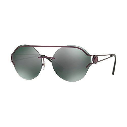 Versace Womens Sunglasses Purple/Green Metal - Non-Polarized - - Sunglasses Versace Purple