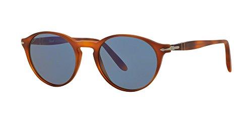 Persol Mens Sunglasses (PO3092) Brown/Blue Acetate - Non-Polarized - - Brown Persol Sunglasses