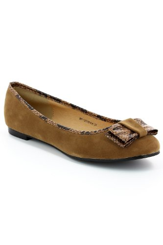 Go Tendance - Bailarinas para mujer marrón - marrón