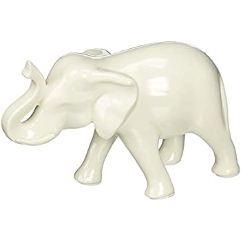 Home Decor Sleek White Elephant Figurine
