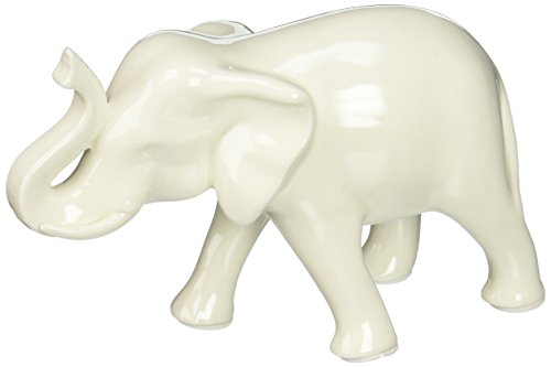Home Decor Sleek White Elephant Figurine