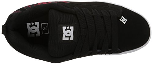 Dc Mens Court Graffik Se Skateboarden Schoen Zwart Plaid
