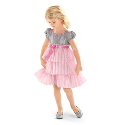 American Girl Bitty Baby Twirly Tiered Dress for Little Girl size 5 (Twirly Girls)