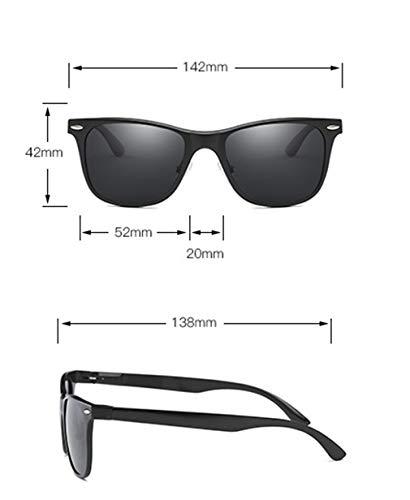 XIYANG Ciclismo de Gafas Unisex Aire Hombres Estilo polarizadas Wayfarer Libre Ideal Gafas de Personalidad Silver Mujeres UV400 al Conducir Sol Sol Negro Deportes para SARFSrq