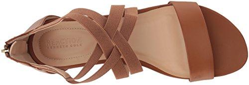 Kenneth Cole Reaction Women's Stretch Low Wedge Sandal Cognac pgLN1b