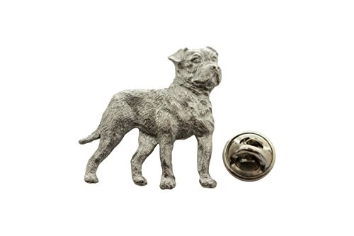 - Sarah's Treats & Treasures American Bulldog Pin ~ Antiqued Pewter ~ Lapel Pin