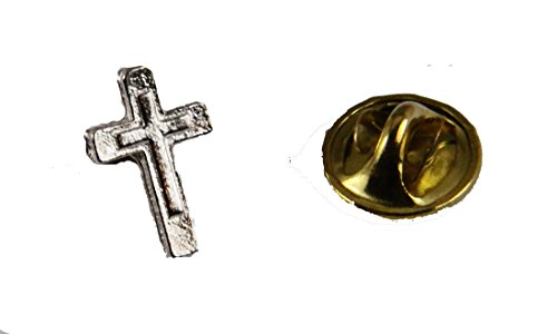 6030264 Christian Cross Lapel Pin Brooch Tie Tack Made in USA Crucifix Pin