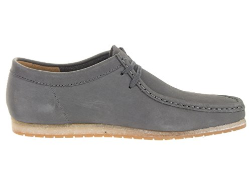 Clarks Mens Wallabee Step Mocassini Scarpe Grigio Nabuk