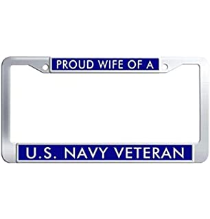 Navy WIFE License Plate Frame Mitchell Proffitt LFNTH12 U.S