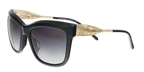 Burberry BE4207F Sunglasses 30018G-56 - Black Frame, Gray - Sunglasses Burberry Square