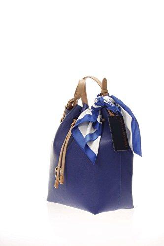 Trussardi 75bp0453, Borsa a secchiello Donna 34x33x14 cm (W x H x L) Blu