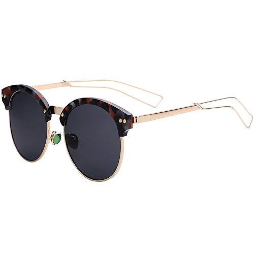 NIFG soleil unisexe lunettes rond soleil de de voyage Lunettes demi arvfacqpw