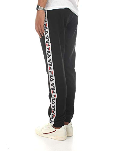 Uomo Pantalone Tadeo Urban ginnico Pantaloni Nero Line Fila Tape fgydwAqng
