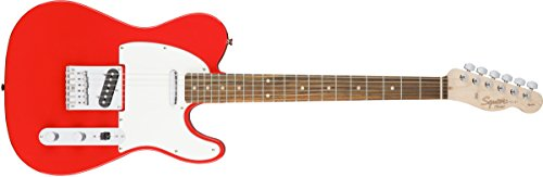 (Squier by Fender Affinity Series Telecaster Beginner Electric Guitar - Race Red)