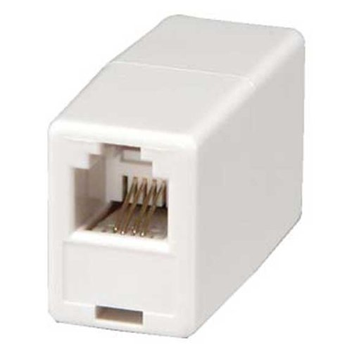 SF Cable, RJ11 Modular Inline Coupler Straight, White