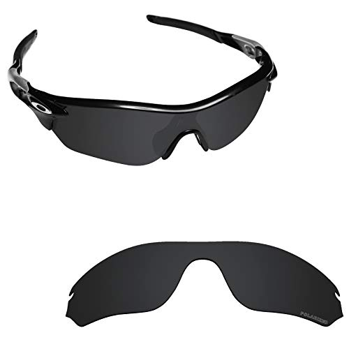 (Alphax Stealth Black Optimized Polarized Engraved Replacement Lenses for Oakley RadarLock Edge)